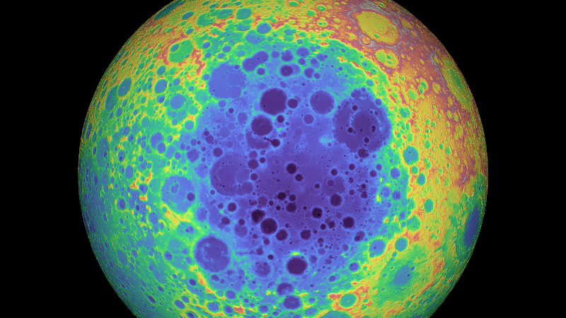 Elevation map of the Moon's South Pole-Aitken basin