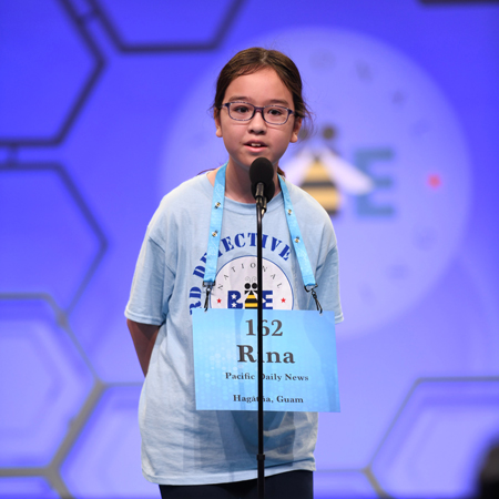 Rina Olsen in the 92nd Scripps National Spelling Bee