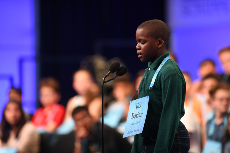 Darian Douglas in the 92nd Scripps National Spelling Bee