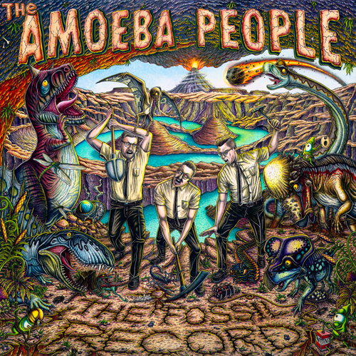 Illustration of The Amoeba People's album The Fossil Record