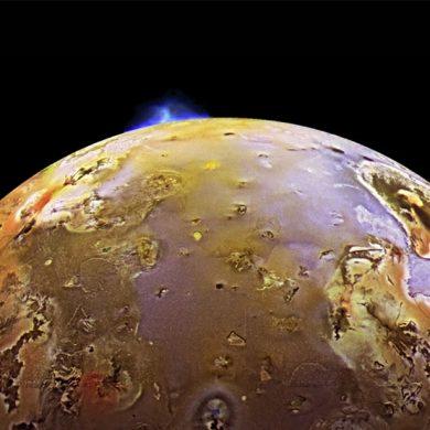 The Tvashtar volcano erupts on Io