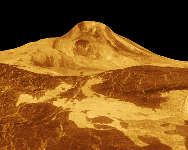 3-D view of a mountain