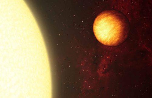 Exoplanet near a star
