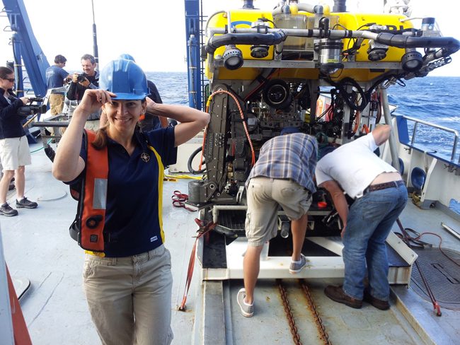 Oceanographer Katy Croff Bell on research ship