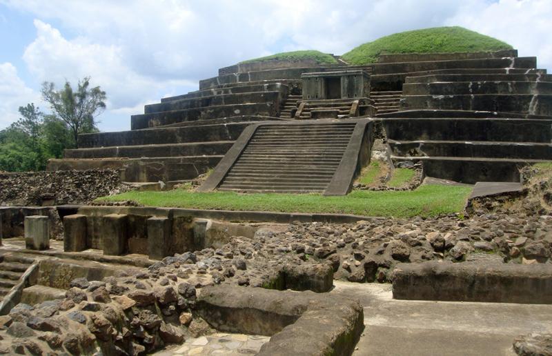 Ruins of a Maya pyramid