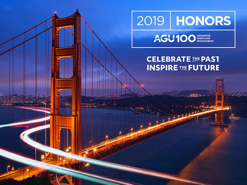 2019 AGU Union Medal, Award, and Prize Recipients Announced - Eos