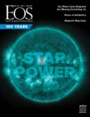 Cover of the August 2019 issue of Eos