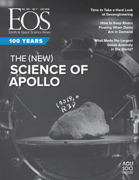 The cover of the current Eos magazine.