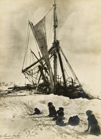 Endurance beset in sea ice in January 1915