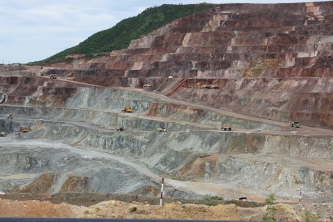 Quarrying in Myanmar revealing the supergene-hypogene interface