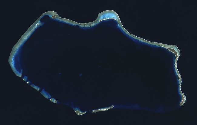 Satellite image of Bikini Atoll