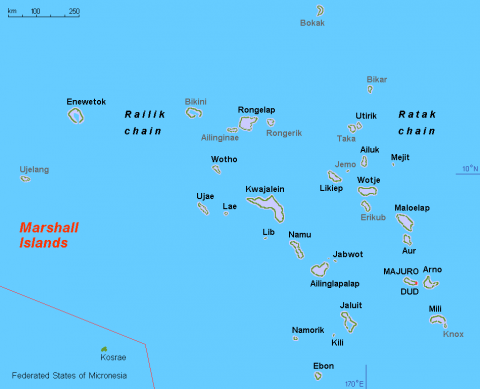 A map of Marshall Islands