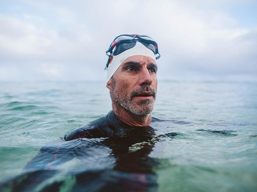 Long-distance swimmer Ben Lecomte
