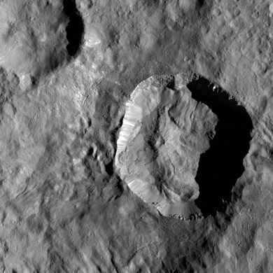 The Juling Crater on Ceres