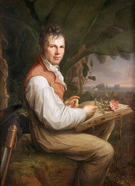 Alexander von Humboldt in an early 19th century portrait by Friedrich Georg Weitsch