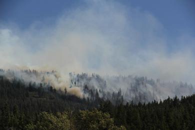 Taylor Bridge Fire in Washington state in 2012