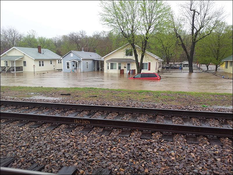 A flooded street in De Soto, Mo. In 2013.