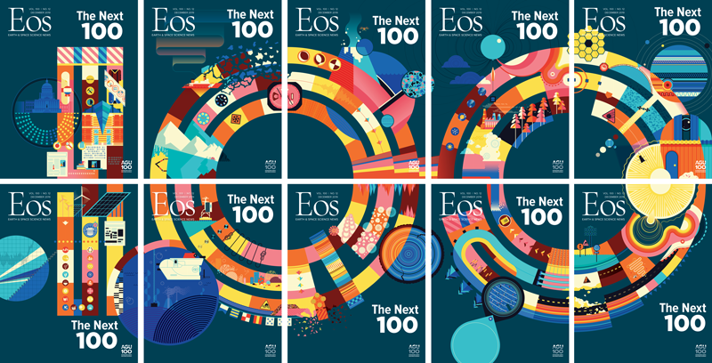 "The 10 December issue covers creating a collage that writes out ""100"""