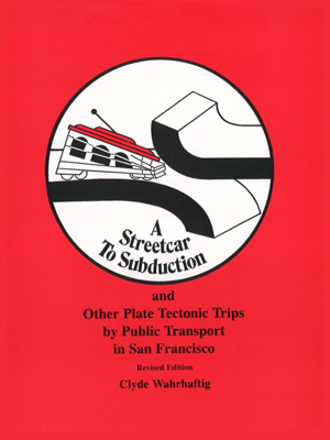 Red cover to the book Streetcar to Subduction