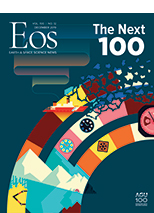 cover of December 2019 issue of Eos
