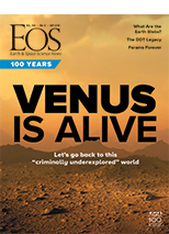 cover of September 2019 issue of Eos