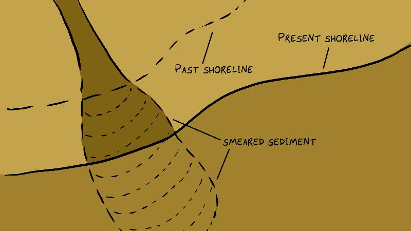 delta sediment smeared