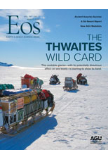 cover of March 2020 issue of Eos