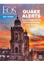 cover of February 2019 issue of Eos