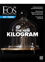 cover of January 2019 issue of Eos