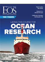 cover of June 2019 issue of Eos