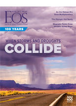 cover of March 2019 issue of Eos