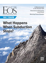 cover of October 2019 issue of Eos