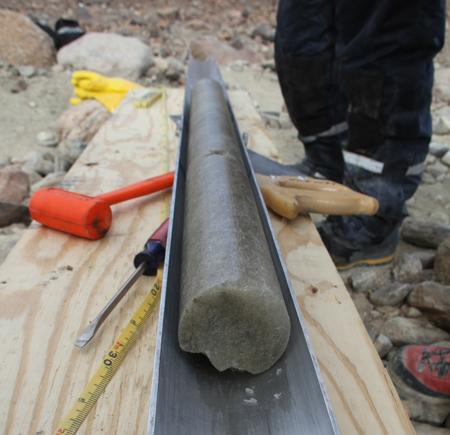 Long, dirty ice core
