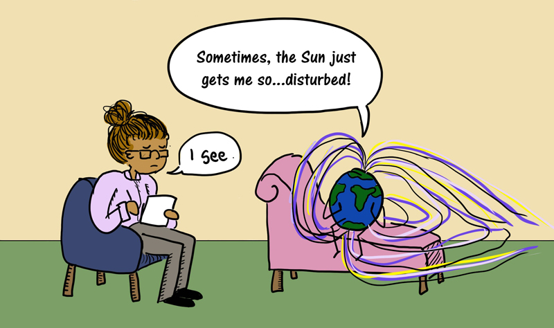 Cartoon about Unsolved Problems in Magnetospheric Physics