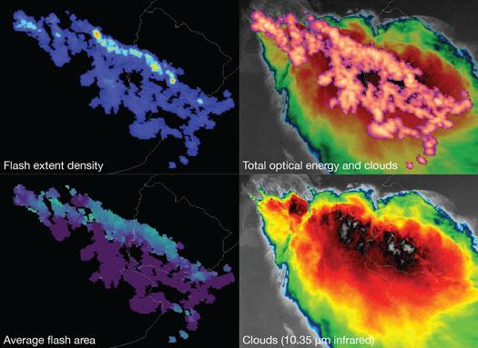 Infrared images of lightning strikes