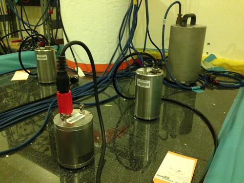 Seismic instruments undergo pier testing
