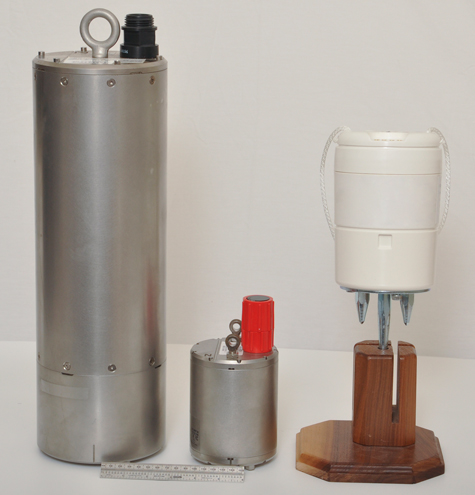 The three types of seismic sensors purchased by GEOICE