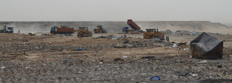 Landfill site in Kuwait