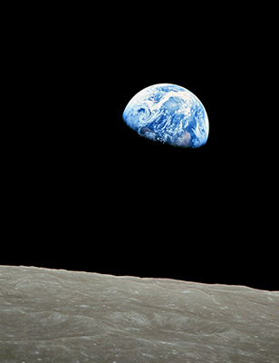 Photo of Earth taken from Apollo 8, called Earthrise (1968)