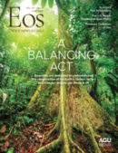 Cover of June 2020 issue of Eos