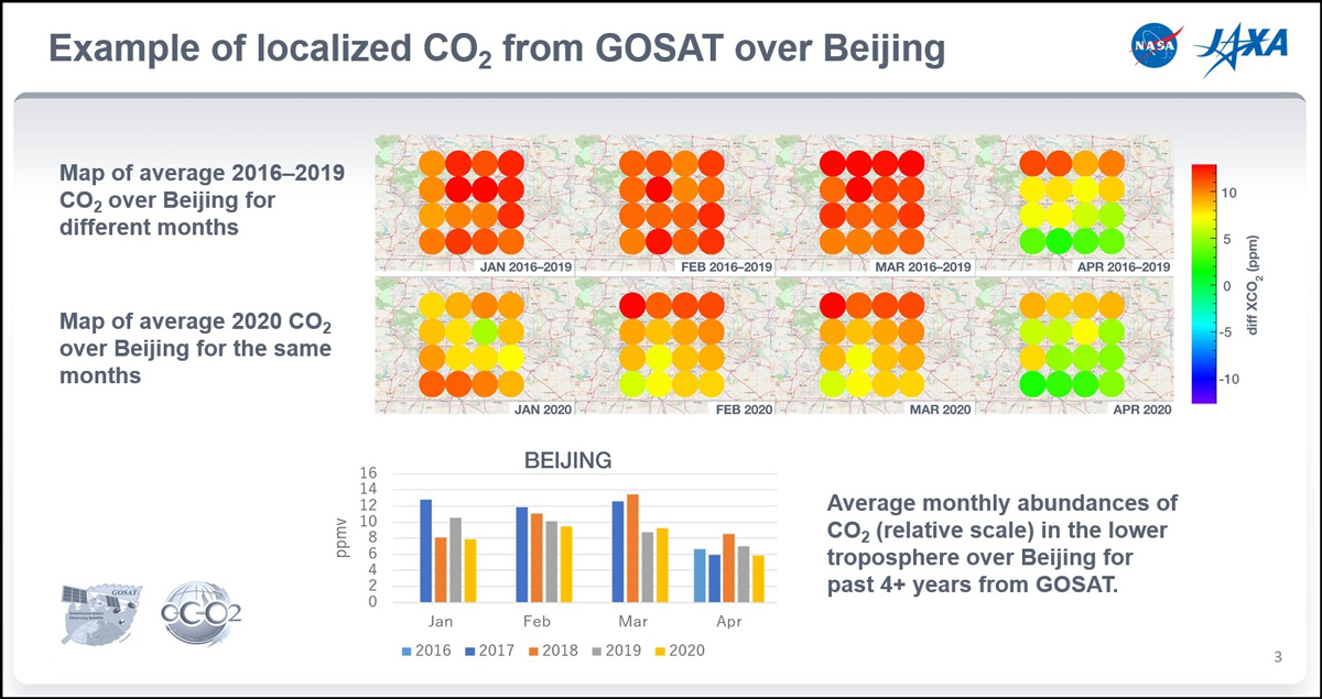 Map of carbon dioxide in Beijing