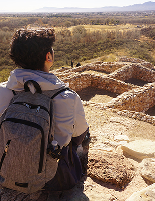 Author Robin D. López visited Tuzigoot National Monument in Arizona in 2017 to learn more about indigenous spaces and understand how past cultures interacted and protected the environment.