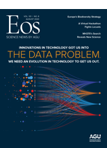 cover of August 2020 issue of Eos