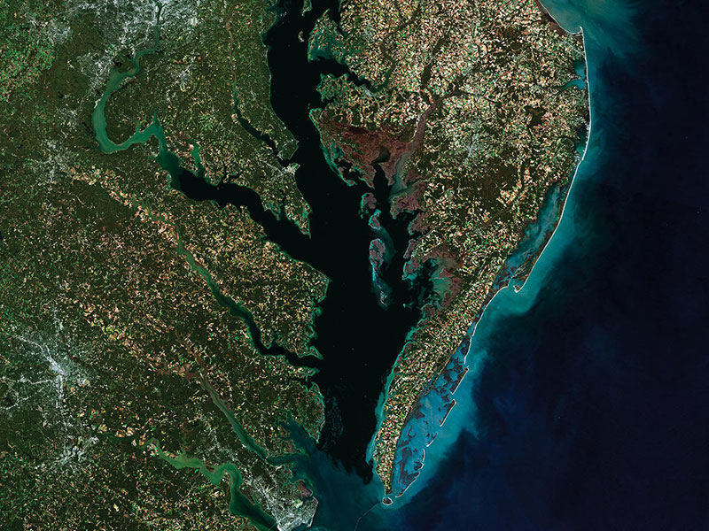 Satellite image of the Chesapeake Bay