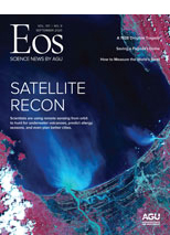 cover of September 2020 issue of Eos