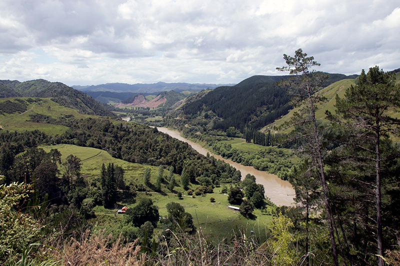 The Whanganui flows through its river valley