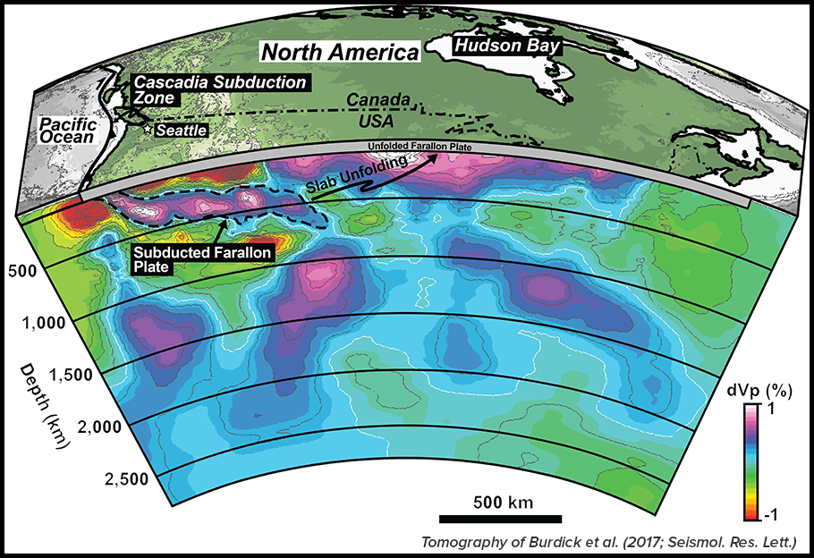 3D map of subducted tectonic plates beneath North America