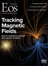 cover of January 2021 issue of Eos