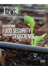 cover of February 2021 issue of Eos