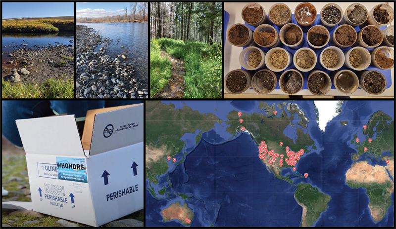 Selection of images from the Worldwide Hydrobiogeochemistry Observation Network for Dynamic River Systems (WHONDRS)